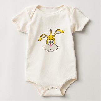 Yellow Rabbit head Baby Bodysuit