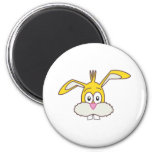 Yellow Rabbit head Refrigerator Magnet