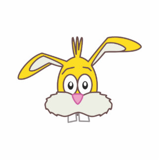 Yellow Rabbit head Statuette