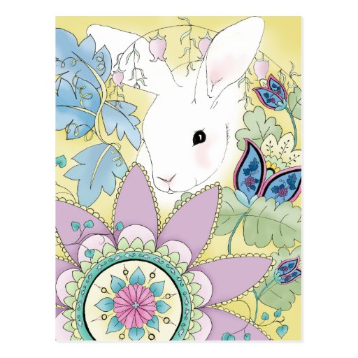 Yellow Rabbit Postcard