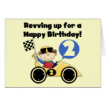 Yellow  Race Car 2nd Birthday Tshirts and Gifts Cards