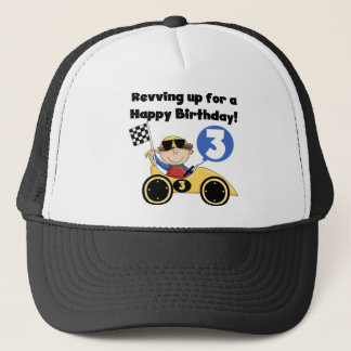 Yellow Race Car 3rd Birthday T-shirts and Gifts Trucker Hat