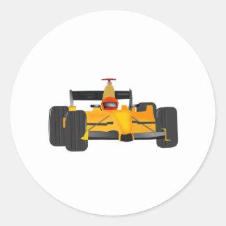 Yellow Racecar Stickers