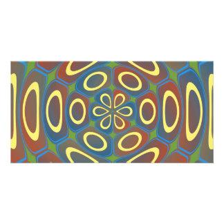 Yellow radial circles card
