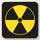 Yellow Radiation Symbol Coaster