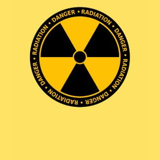 Yellow Radiation Symbol T-Shirt shirt