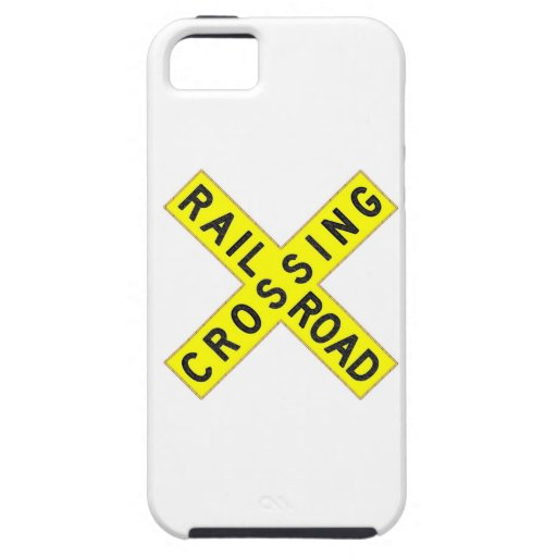 Yellow Railroad Crossbuck iPhone 5 Cases