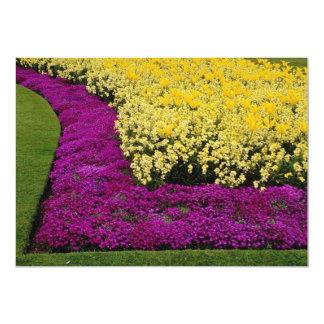 "yellow Rainbow flowerbeds flowers 5"" X 7"" Invitation Card"