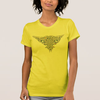Yellow Rainbow Fractal Lace a T-Shirt