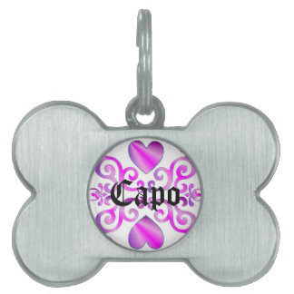 yellow Rainbow Ornaments, heart and lily Pet Tag