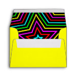 Yellow Rainbow Stars Envelope