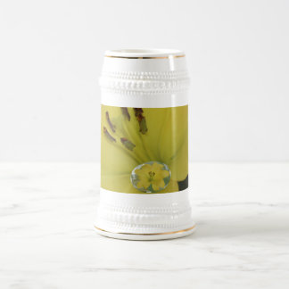 Yellow Raindrop Lily Beer Stein