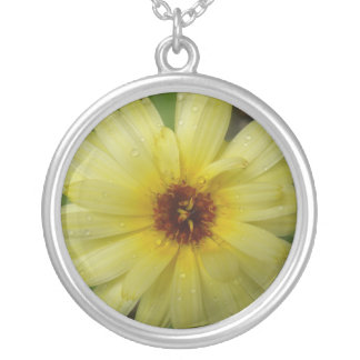 Yellow Raindrops Marigold Floral Necklace