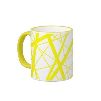 Yellow random stripes mug