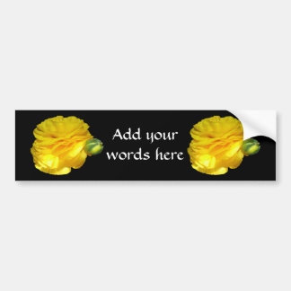 Yellow Ranunculus Bumper Sticker