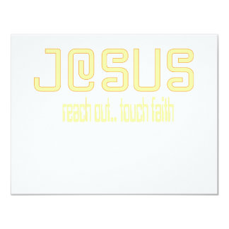 (Yellow) Reach Out, Touch Faith with Jesus! Card