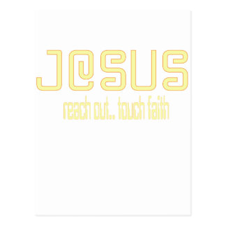 (Yellow) Reach Out, Touch Faith with Jesus! Postcard