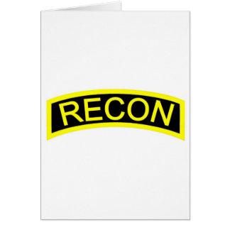 Yellow Recon Tab Card
