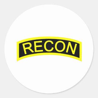 Yellow Recon Tab Classic Round Sticker