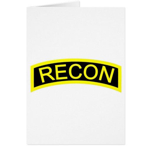 Yellow Recon Tab Greeting Card
