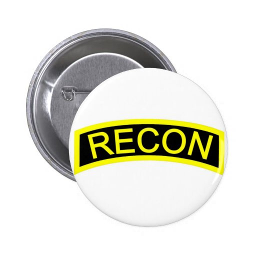 Yellow Recon Tab Pinback Buttons