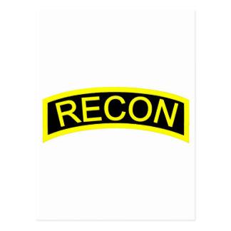 Yellow Recon Tab Postcard