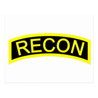 Yellow Recon Tab Post Cards
