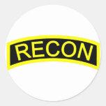 Yellow Recon Tab Sticker