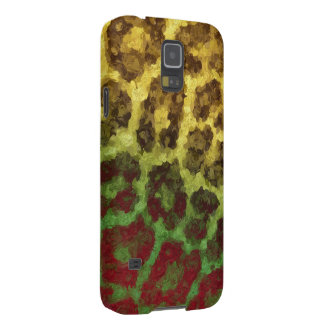Yellow Red Abstract Cheetah Case For Galaxy S5