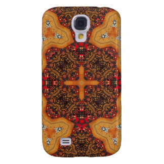 Yellow & Red Abstract Patter Galaxy S4 Case