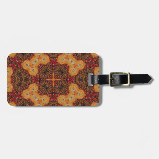 Yellow & Red Abstract Patter Tag For Luggage