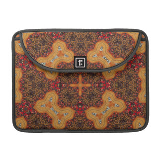 Yellow & Red Abstract Patter MacBook Pro Sleeves