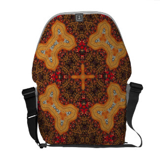Yellow & Red Abstract Patter Courier Bags