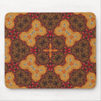 Yellow & Red Abstract Patter Mouse Pad