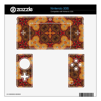 Yellow & Red Abstract Patter Decal For 3DS
