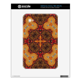 Yellow & Red Abstract Patter Samsung Galaxy Tab Skins