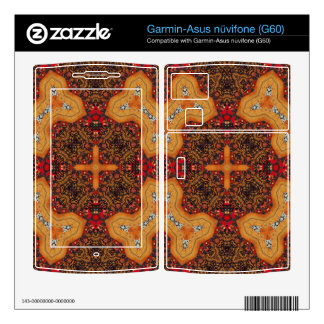 Yellow & Red Abstract Patter Garmin Asus Nuvifone Skin