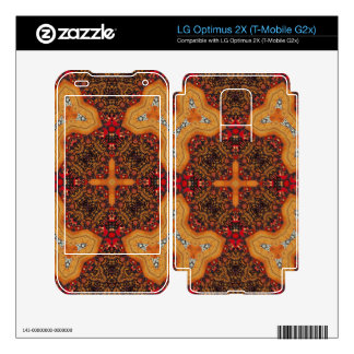 Yellow & Red Abstract Patter Skins For LG Optimus 2X
