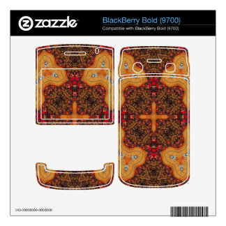 Yellow & Red Abstract Patter BlackBerry Skin