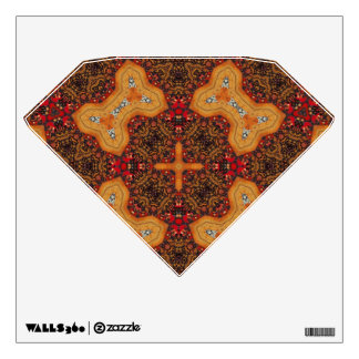 Yellow & Red Abstract Patter Wall Decor