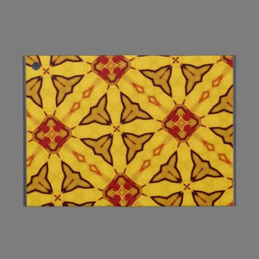 Yellow & Red abstract Pattern Case For iPad Mini