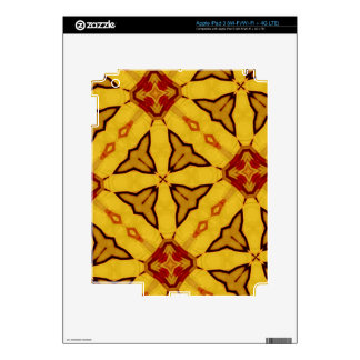 Yellow & Red abstract Pattern Decals For iPad 3