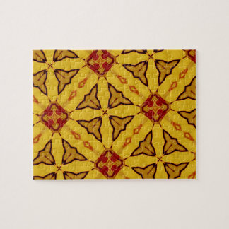 Yellow & Red abstract Pattern Puzzles