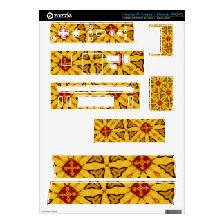 Yellow & Red abstract Pattern Skin For Nintendo Wii
