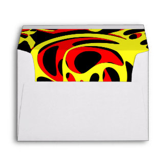 Yellow red and black envelope