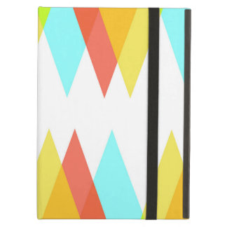 Yellow, red and cadet blue triangles case for iPad air