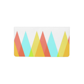 Yellow, red and cadet blue triangles checkbook cover