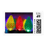 Yellow Red and Green Lights Postage Stamp