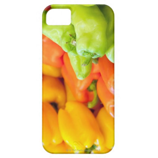 Yellow, red and green pepper on sale at farmer's blackberry bold case