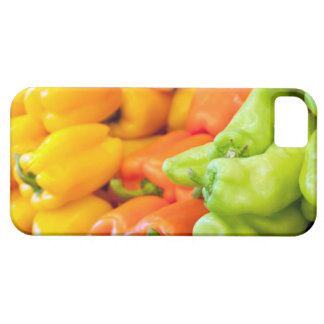 Yellow, red and green pepper on sale at farmer's iPhone 5 covers